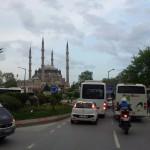 Edirne - erster Kontakt zum türkischen Stadtverkehr