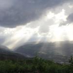 Nemrut Dagi- die Sonne kommt durch