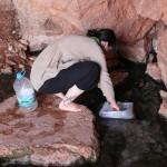 beim Wassertanken