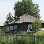 typisches Holzhaus in Russland