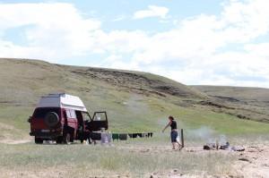 unser Camp auf Olchon