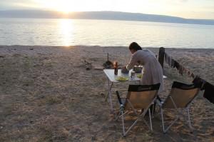 Abendessen auf Olchon