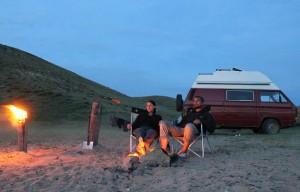 Olchon Insel am Sandstrand