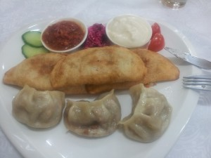 traditionelles, mongolisches essen in Vegan