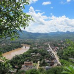 Blick vom Chomsi Hill auf Luang Prabang