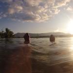 planschen im See