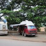 unser Parkplatz in Luang Prabang