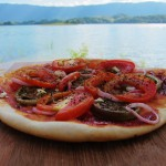 selbstgemachte Pizza am See
