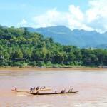 Ruderer auf dem Mekong