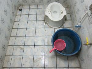 unsere Dusche im Wat Chiang Man