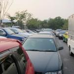 der Parkplatz ist voll