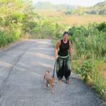 Verena mit Izzy von Lanta Animal Welfare