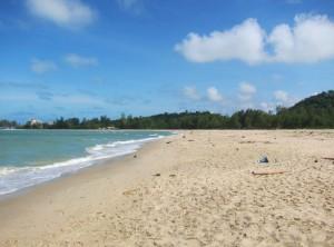 Songklah- der Strand ist leider sehr vermüllt