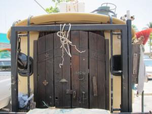 die Tür vom Wohnmobil